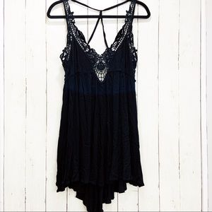 LuLu's Crochet Strappy Tie Back Shift Dress | M